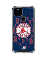 Boston Red Sox - Secondary Logo Blast Google Pixel 5 Clear Case