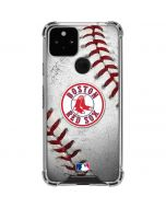 Boston Red Sox Game Ball Google Pixel 5 Clear Case