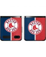 Boston Red Sox Split Galaxy Z Flip Skin