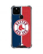 Boston Red Sox Split Google Pixel 5 Clear Case