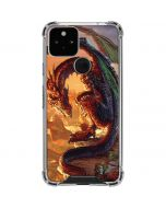 Bravery Misplaced Dragon and Knight Google Pixel 5 Clear Case