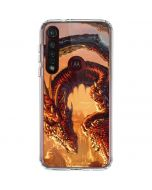 Bravery Misplaced Dragon and Knight Moto G8 Plus Clear Case