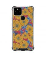 Bright Fall Flowers Google Pixel 5 Clear Case