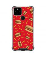 Burgers and Fries Google Pixel 5 Clear Case
