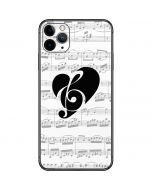 BW Musical Notes iPhone 11 Pro Max Skin
