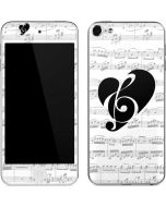 BW Musical Notes Apple iPod Skin