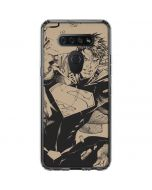 BW Superman Sketch LG K51/Q51 Clear Case