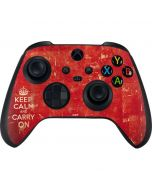 Keep Calm and Carry On Distressed Xbox Series X Controller Skin