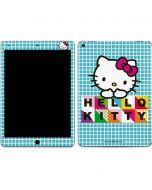 Hello Kitty Blue Pattern Apple iPad Air Skin