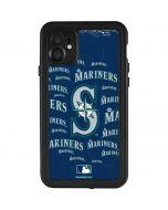 Seattle Mariners - Cap Logo Blast iPhone 11 Waterproof Case