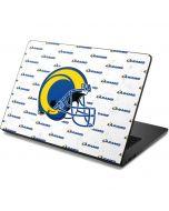 Los Angeles Rams White Logo Blast Dell Chromebook Skin