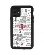 Houston Rockets Historic Blast iPhone 11 Waterproof Case