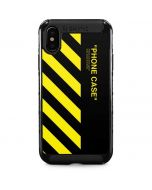 Black and Yellow Stripes iPhone XS Max Cargo Case