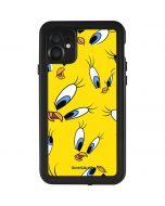 Tweety Bird Super Sized Pattern iPhone 11 Waterproof Case