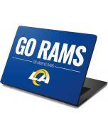 Los Angeles Rams Team Motto Dell Chromebook Skin