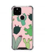 Cactus Print Google Pixel 5 Clear Case