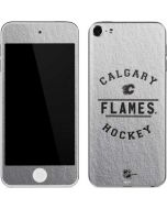 Calgary Flames Black Text Apple iPod Skin
