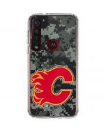 Calgary Flames Camo Moto G8 Plus Clear Case