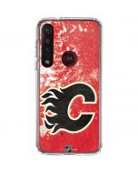 Calgary Flames Frozen Moto G8 Plus Clear Case