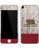 California Flag Dark Wood Apple iPod Skin