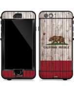 California Flag Dark Wood LifeProof Nuud iPhone Skin