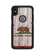 California Flag Dark Wood Otterbox Commuter iPhone Skin