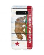 California Flag Light Wood Galaxy S10 Plus Lite Case