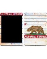 California Flag Light Wood Apple iPad Skin