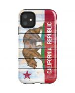 California Flag Light Wood iPhone 11 Impact Case