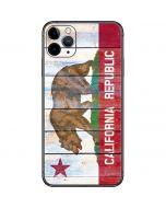California Flag Light Wood iPhone 11 Pro Max Skin