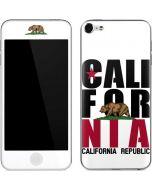 California White Block Apple iPod Skin