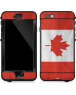 Canada Flag Distressed LifeProof Nuud iPhone Skin