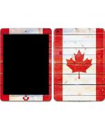 Canada Flag Light Wood Apple iPad Skin