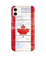 Canada Flag Light Wood iPhone 11 Lite Case