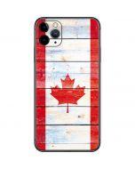 Canada Flag Light Wood iPhone 11 Pro Max Skin