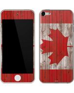 Canadian Flag Dark Wood Apple iPod Skin