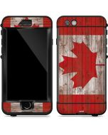 Canadian Flag Dark Wood LifeProof Nuud iPhone Skin