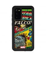 Captain America And Falcon Galaxy S20 Waterproof Case