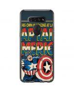Captain America Big Premier Issue LG K51/Q51 Clear Case