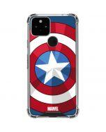 Captain America Emblem Google Pixel 5 Clear Case