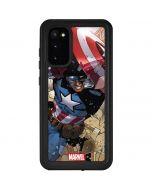 Captain America Fighting Galaxy S20 Waterproof Case