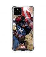 Captain America Fighting Google Pixel 5 Clear Case