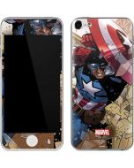 Captain America Fighting Apple iPod Skin