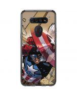 Captain America Fighting LG K51/Q51 Clear Case