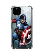 Captain America Google Pixel 5 Clear Case