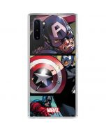 Captain America in Action Galaxy Note 10 Plus Clear Case