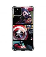 Captain America in Action Google Pixel 5 Clear Case