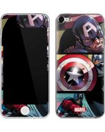 Captain America in Action Apple iPod Skin