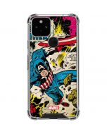 Captain America Rooftop Explosion Google Pixel 5 Clear Case