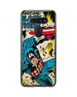 Captain America Rooftop Explosion LG K51/Q51 Clear Case